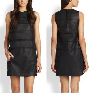 Theory Emanita Sleeveless Leather Sheath Dress 4